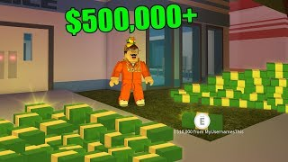 richest jailbreak player joined and dropped all his cash .. ( roblox jailbreak )