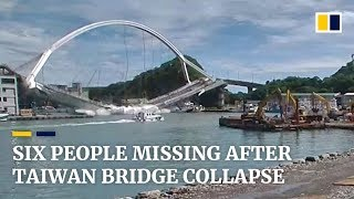 Six people missing after Taiwan bridge collapse