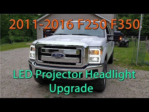 2011-2016 Ford F250 F350 LED / HID Projector Headlights Upgrade W/ Morimoto 2 Stroke 2.0
