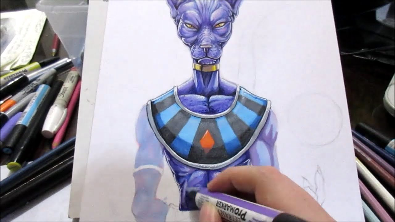 Drawing Beerus Dragon Ball Super Youtube