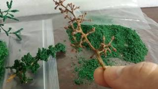 мои попытки изготовления деревьев для макета. И чем все закончилось?