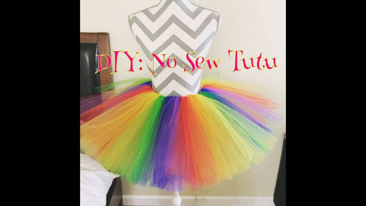 Diy no sew tutu youtube solutioingenieria Images