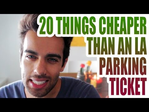 20 THINGS CHEAPER THAN A LOS ANGELES PARKING TICKET   KRISHNA