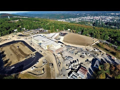 DJI Inspire 1 Drone at the new Allegany High School, Cumberland, Maryland. Watch in 4k !