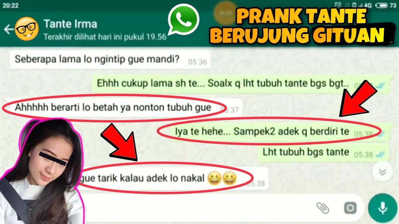 Download AWALNYA ISENG NGINTIP TANTE MANDI, MALAH NGAJAK WIK WIK AUTO MESUM ?? Prank Chat Whatsapp FB Line