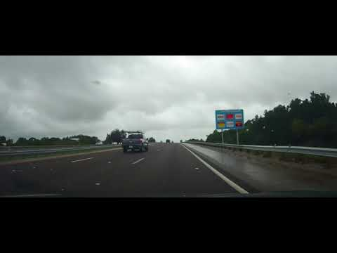 Driving from Fort Myers to Tampa, Florida (timelapse)