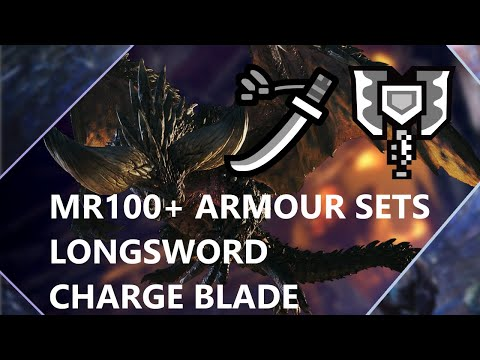 Monster Hunter World Iceborne: End Game Master Rank 100+ Charge Blade and Longsword Mixed Armor Sets