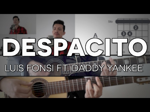 Despacito Luis Fonsi - ft. Daddy Yankee Tutorial Cover - Guitarra [Mauro Martinez]