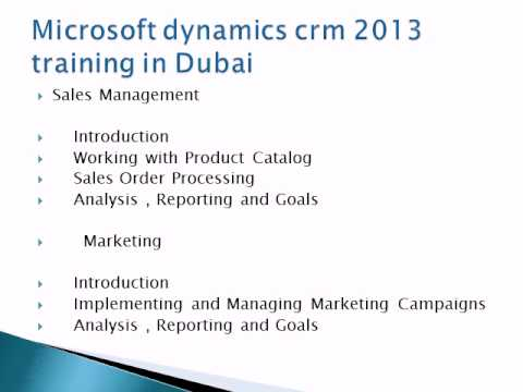 Microsoft dynamics crm 2013 training in Middle east