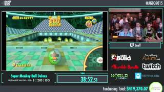 Awesome Games Done Quick 2015 - Part 95 - Super Monkey Ball Deluxe by Geoff