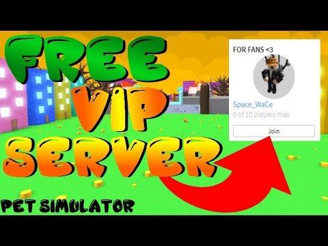 New 2019 Free Vip Server Pet Simulator Roblox Youtube
