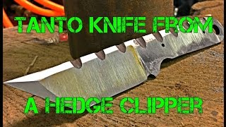 Making a Tanto Knife From a Garden Tool