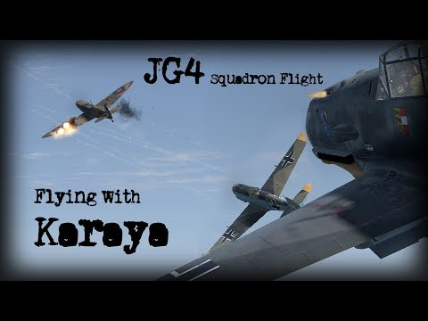 IL2 Cliffs Of Dover | JG4 Squadronflight - Flying with Karaya