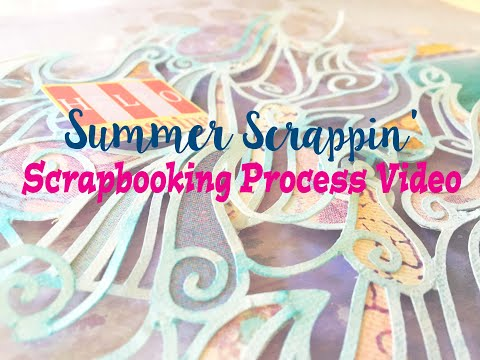 """Summer Scrapping 2019 Day 15- Scrapbooking Process #215- """"The Middle of the Lake"""""""