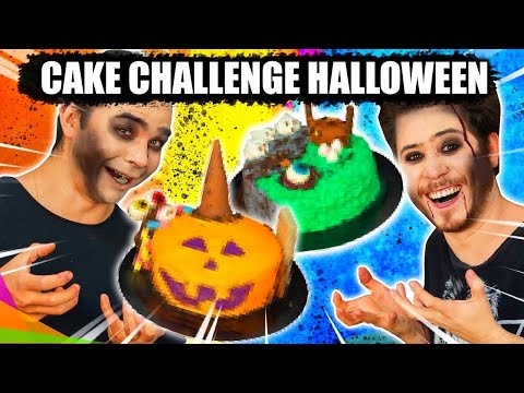CAKE CHALLENGE HALLOWEEN COM OS MARIDOS! - Desafio do bolo | Blog das irmãs