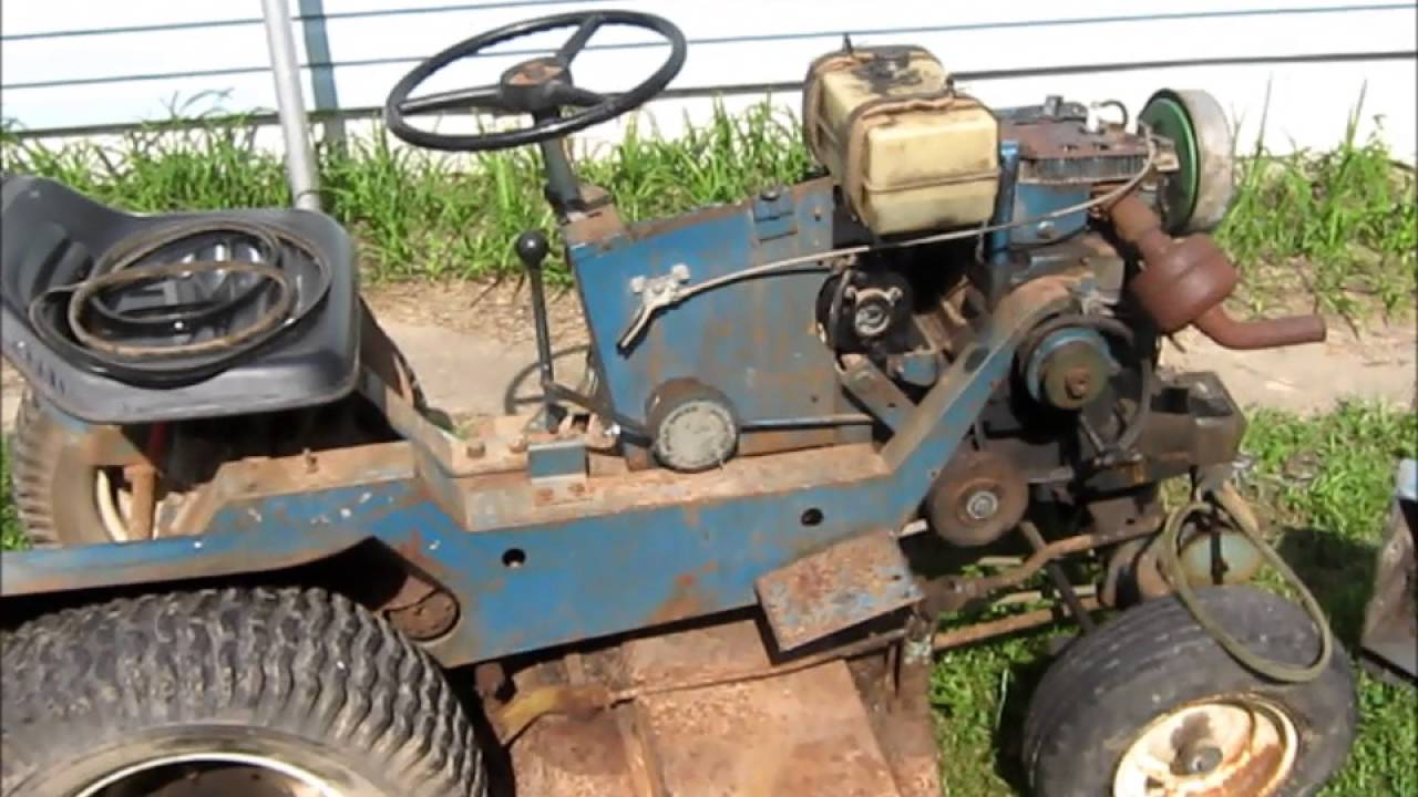 Old Sears Garden Tractors Parts : Old sears surburban lawn tractor youtube