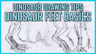 Dinosaur Feet Drawing Tutorial