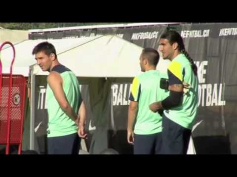 Neymar and Gerardo Martino take part in first Barcelona training session