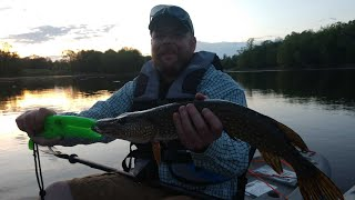 First Kayak Pike Fishing