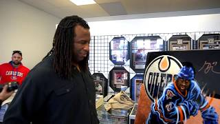 Georges Laraque Painting Sevigny - NHL Edmonton Oilers