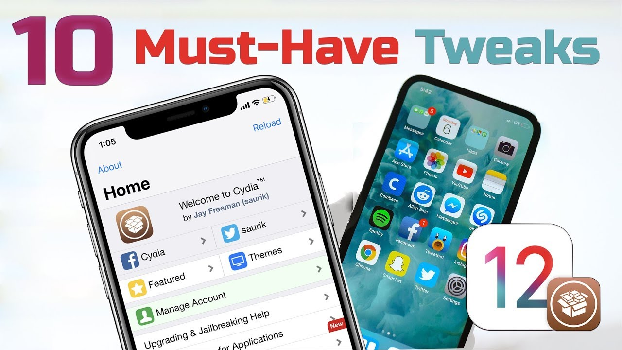 10 Must-Have Tweaks for iOS 12 x x Jailbreak