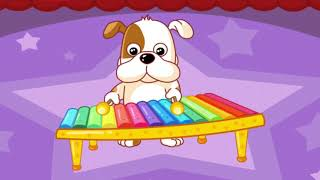 Fun learning Музыкальные инструменты звуки Обучающее видео для детей мультик