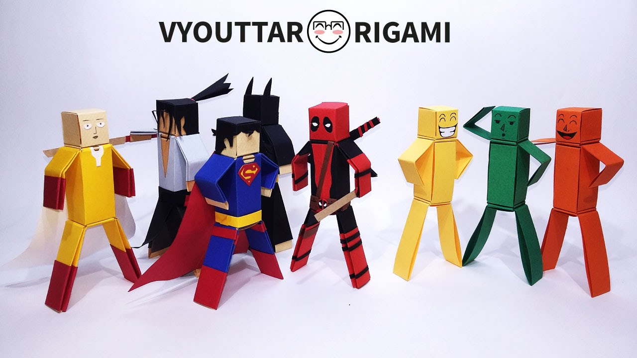 How to make paper characters - minecraft characters without glue 2 - Vyouttar Origami