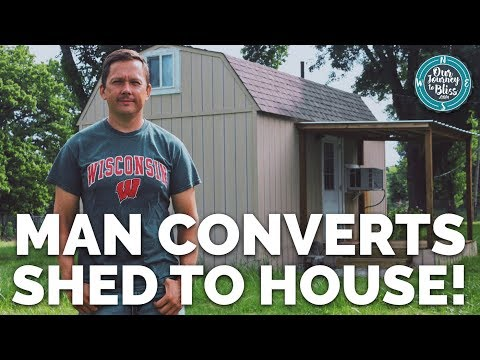 Shed Converted to Tiny House     Jim's Journey To Bliss!