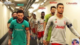 PES 2019   Juventus vs Barcelona   JUV ft. Pogba, Buffon, Rabiot   ft. Neymar, Griezmann, De Jong