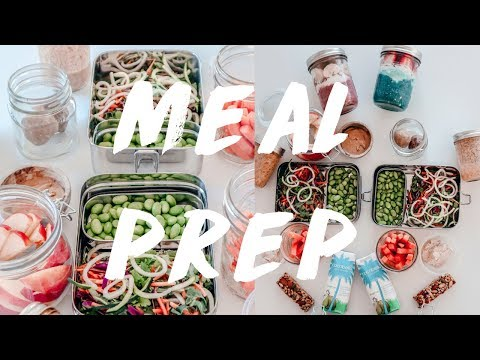 PALEO + VEGAN MEAL PREP. What I eat in a day food prep style
