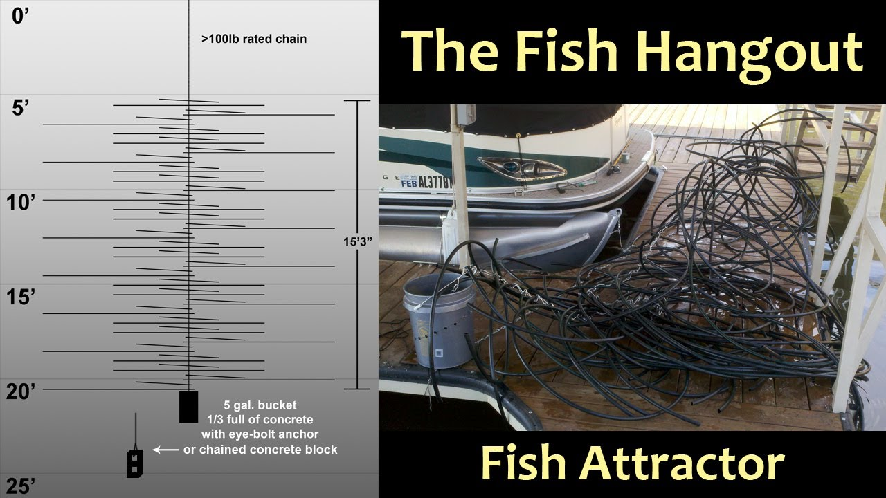 The fish hangout fish habitat fish attractor crappie for Homemade fish structure