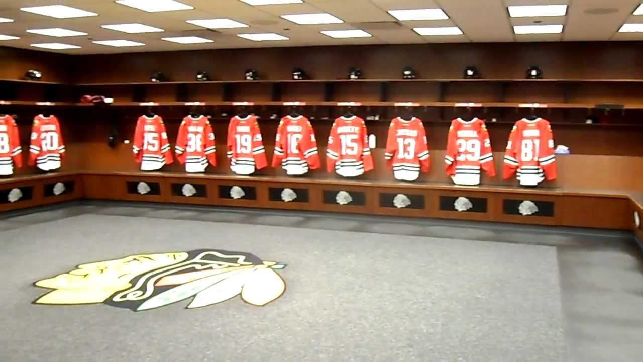 Image result for chicago blackhawks locker room