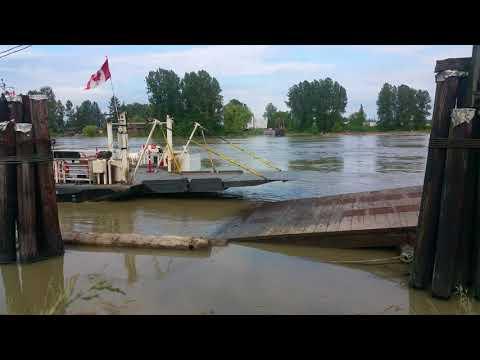 Barnston Island Ferry during the Fraser flooding season