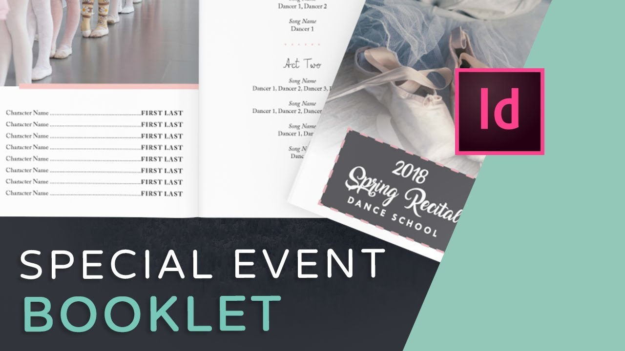 Let\'s Create an Event Program Booklet in InDesign - YouTube