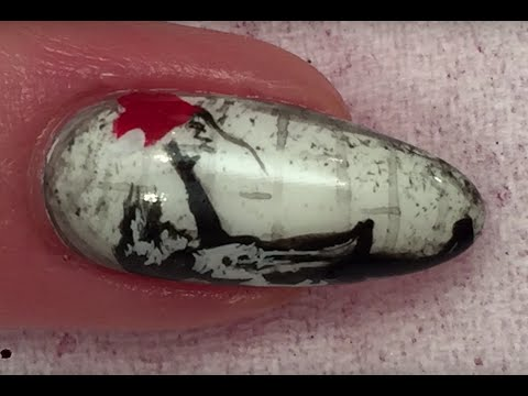 Banksy Balloon Girl Nail Art Design