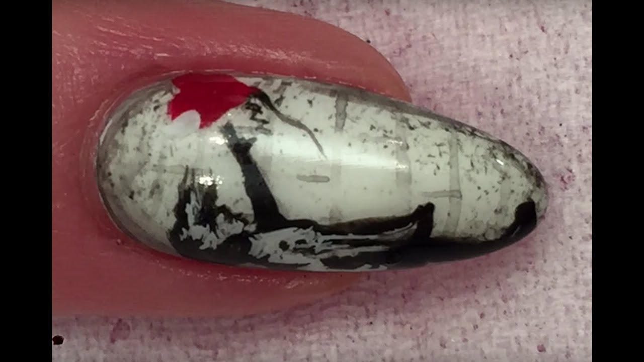 Banksy balloon girl nail art design youtube banksy balloon girl nail art design prinsesfo Choice Image