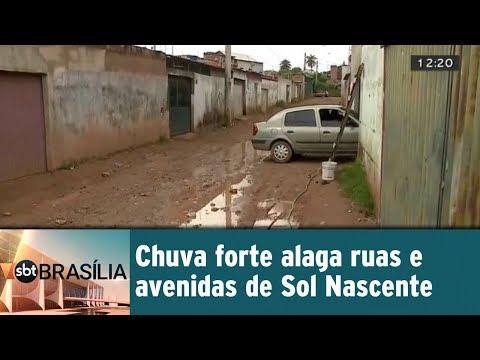 Chuva forte alaga ruas e avenidas de Sol Nascente
