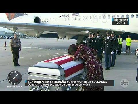 EUA abrem investigação sobre morte de soldados americanos na África | SBT Brasil (19/10/17)