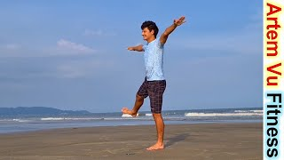 Lose Weight in 20 minutes Easy Beginner Workout At Home 2020 ArtemFitness упражнения для новичков