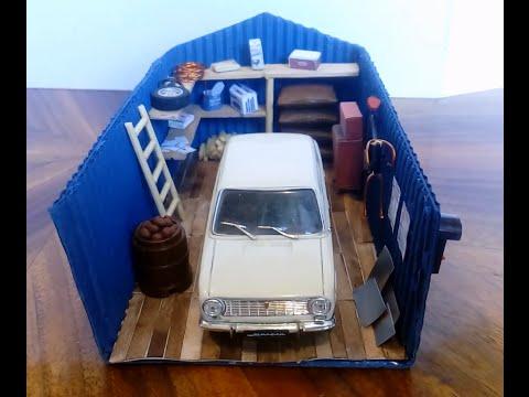 Как сделать диораму гаража 1/43 И новое качество смотреть в хорошем качестве