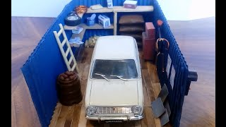 как сделать диораму гаража 1/43 И новое качество!