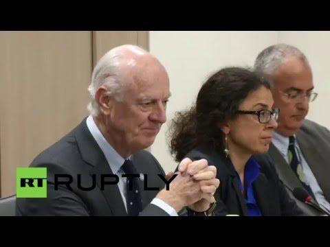 Switzerland: HNC opposition meet de Mistura for intra-Syria peace talks
