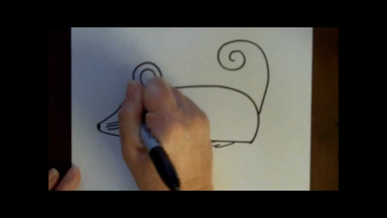 how to draw a cartoon mouse step by step