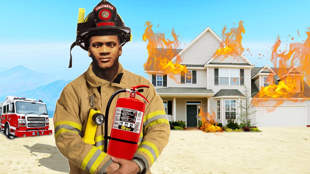 I Became A FIRE FIGHTER in GTA 5!