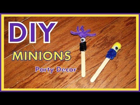 DIY - Dollar Store MINIONS Party Decorations - Minion Stick