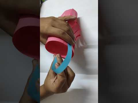 DIY - How to make a colourful paper Lantern / Fun Kids Activities / Kandil for Diwali / Crafts Baske