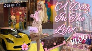 🎀A Day In The Life Vlog! 🎀Shopping at Louis Vuitton, Christian Louboutin & Kate Spade! 👛