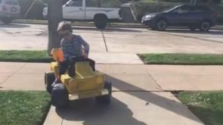 Tricks on my new Power Wheels Dump Truck!