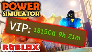VIP INFINITY? HOW DID I GET THIS? -Roblox Power Simulator #13