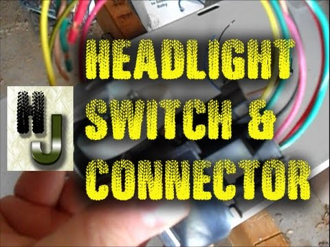hqdefault jeep headlight switch & connector repair youtube Headlight Wiring Harness Replacement at fashall.co